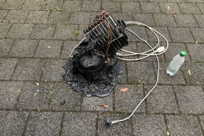 In Rüdlingen SH brannte ein Luftentfeuchter heute.