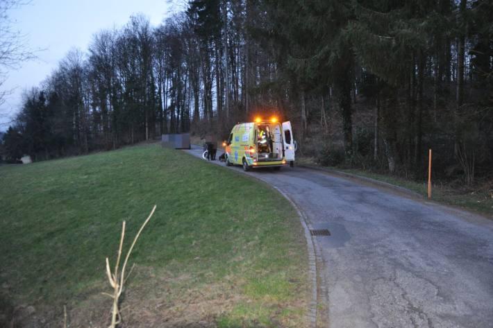 Eine Velofahrerin verletzte sich gestern in Lohn-Ammansegg SO.