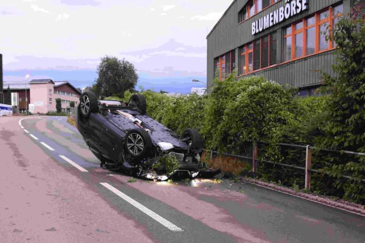Betrunken Unfall gebaut und geflüchtet in Mörschwil