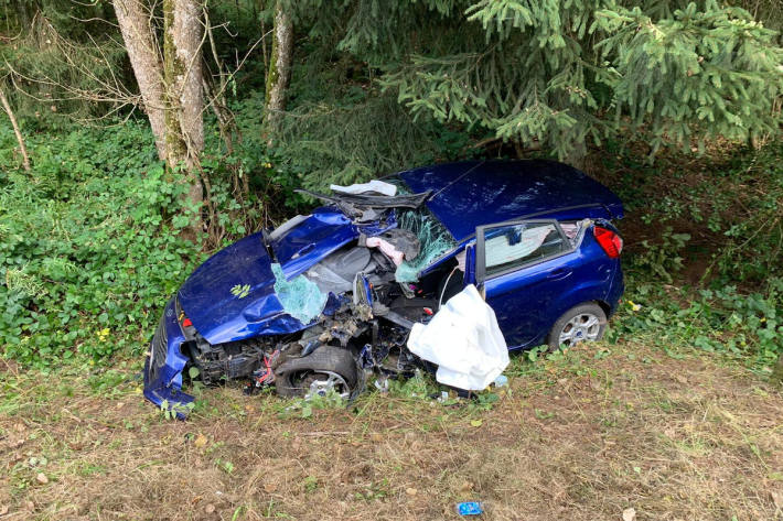 Verkehrsunfall mit schwerstverletzter Person