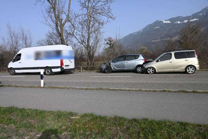Beim Unfall in Schaan FL ist gestern Blechschaden entstanden.