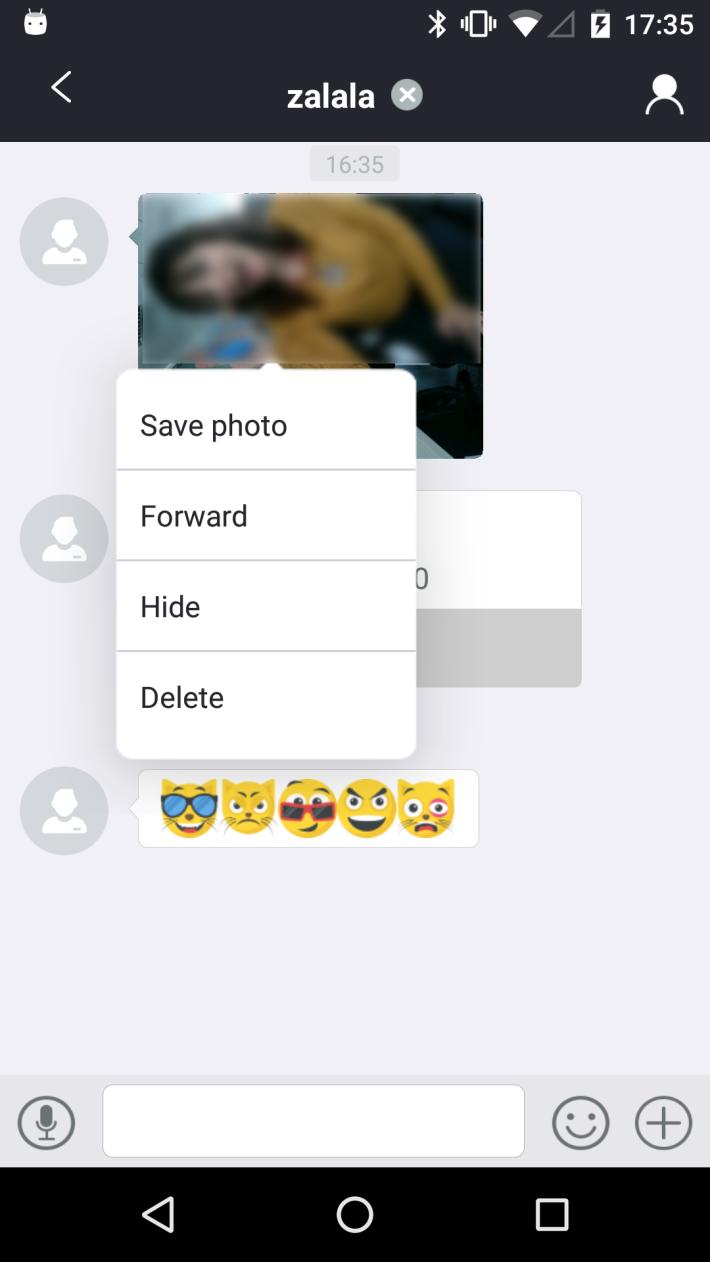 Ein weiteres Problem besteht beim Austausch zwischen Benutzer während Chatsitzungen
