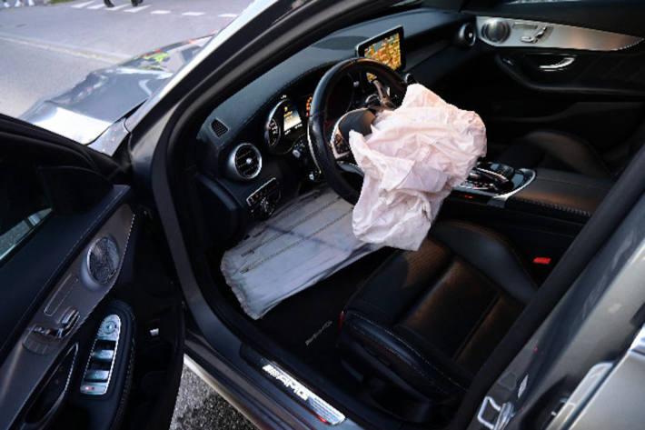 Unfallfahrzeug in Vaduz
