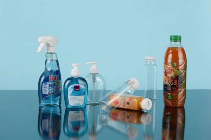 Umweltfreundliche Pet-Flaschen bei der Migros.