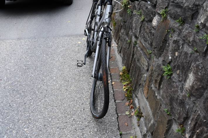 Die Velofahrerin verletzte sich beim heutigen Unfall in Chur GR schwer.