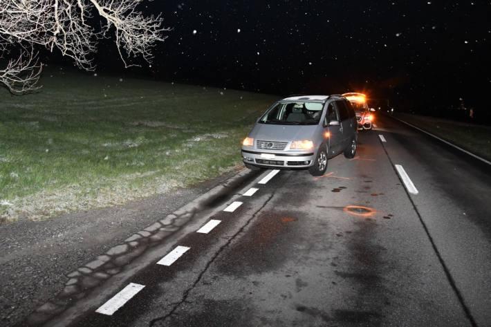 In Chur GR wurde heute ein Fussgänger von einem Auto erfasst.