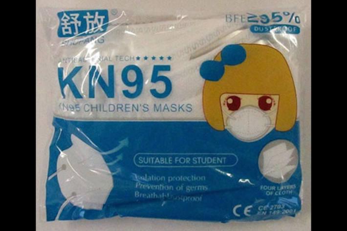 Rapex warnt vor SHUFANG KN95 Kindermasken