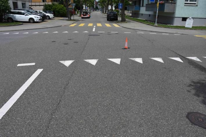 In Gossau SG verletzte sich gestern ein Rollerfahrer.