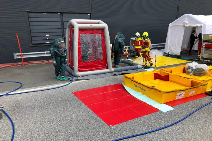 Entwichenes Ammoniak führt zu Feuerwehreinsatz