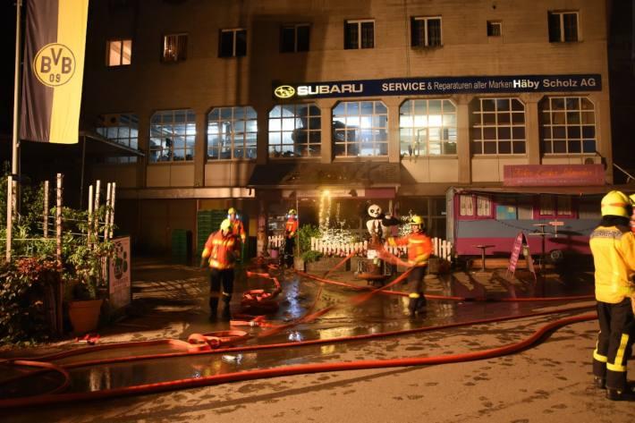 In einem Hundegeschäft brannte es gestern in Gossau SG.