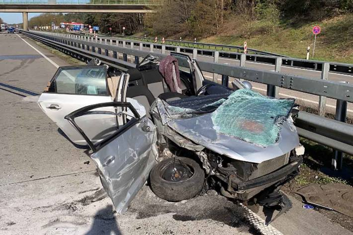 Verkehrsunfall auf der A1 im Bereich Wildeshausen