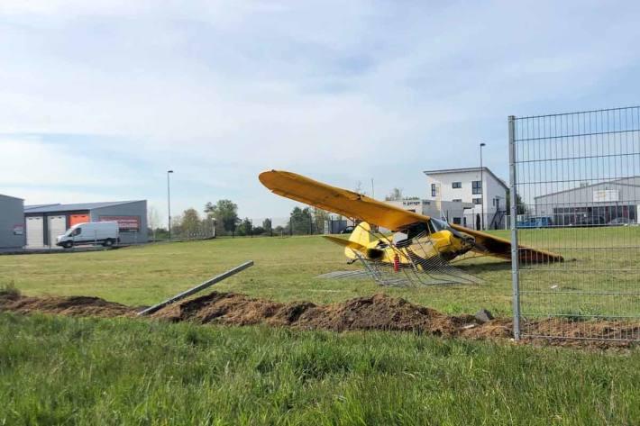Am Flugzeug entstand in Speyerdorf ein Totalschaden in Höhe von 50.000EUR