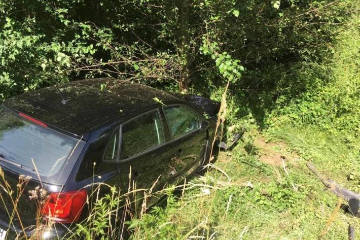 In Mondsee wurde die Frau so stark abgelenkt, dass sie von der Fahrbahn abkam und frontal gegen einen Baum fuhr
