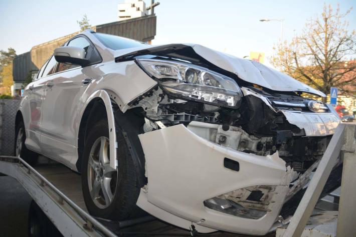 Auto des Unfallverursachers in Breitenbach