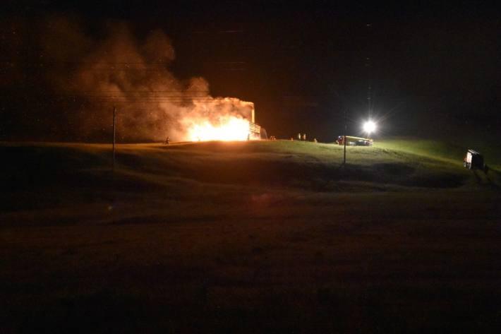 In Wildhaus SG ist heute die Scheune niedergebrannt.