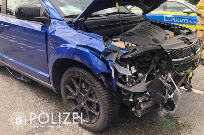 Unfallfahrzeug in Kaiserslautern