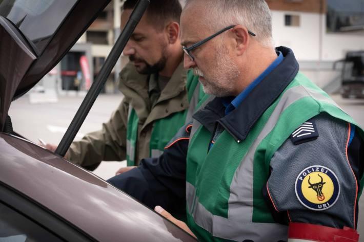 In Andermatt UR wurde eine Militärübung durchgeführt.