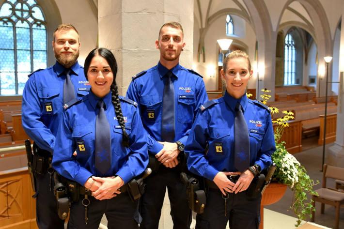 Das sind die Neuen der Schaffhauser Polizei.