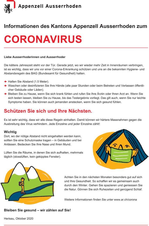 Flyer für die Bevölkerung und Unternehmen