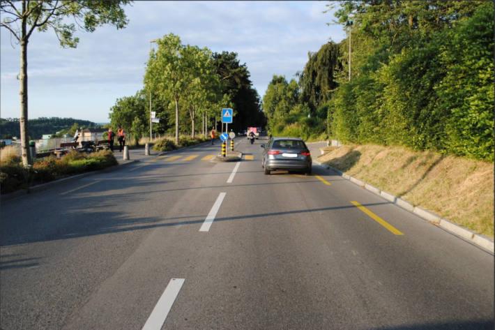 Unfallstelle in Neuhausen am Rheinfall