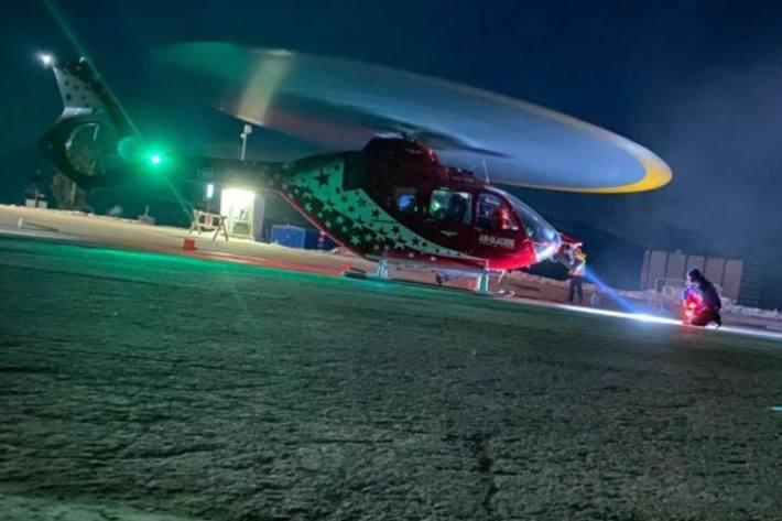 Die Rettungsaktion in Crans-Montana VS war letzte Nacht erfolgreich.