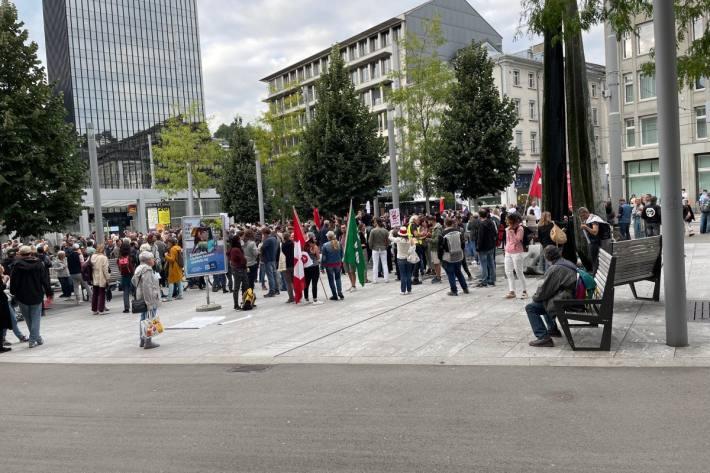 Friedliche Demonstration gestern in St. Gallen.