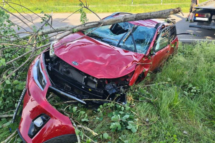 Verkehrsunfall mit glimpflichem Ausgang auf der A6 bei Grünstadt