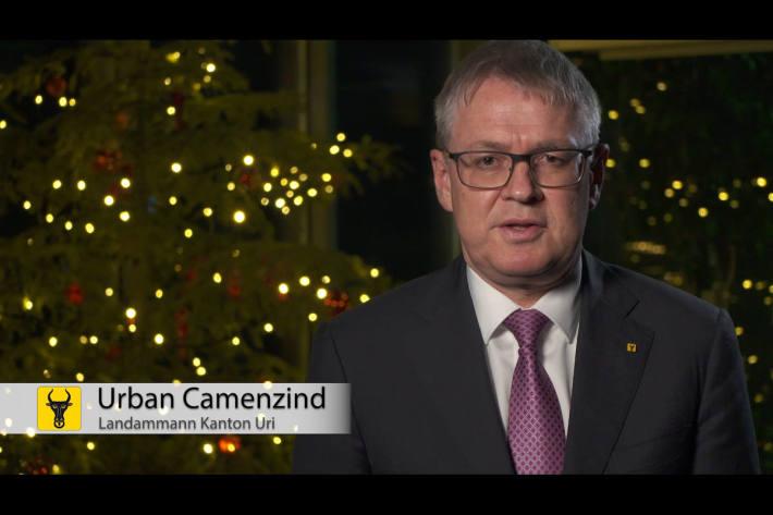 Videobotschaft von Landammann Urban Camenzind zu Weihnachten und zum Jahreswechsel