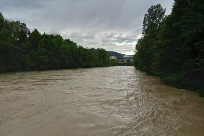 Gewaltige Wassermassen in Emmenbrücke LU.
