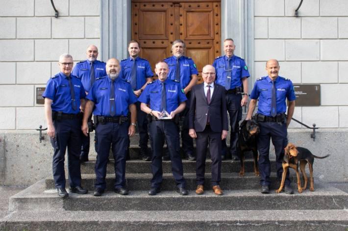 Die Kantonspolizei St. Gallen wurde mit einem preis ausgezeichnet