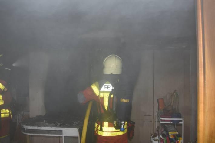 In Oberschan SG brannte es in einem Hotel.