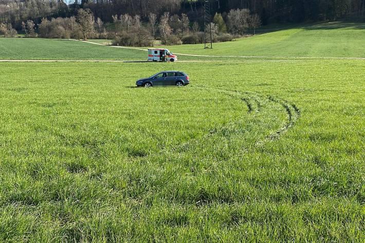 Beim Unfall wurde in Mettlen die Beifahrerin verletzt