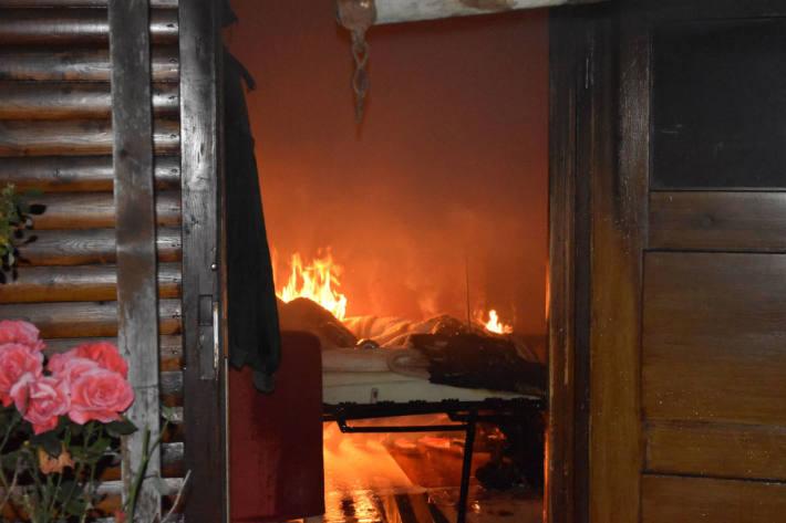 Gartenhaus in Flammen aufgegangen in Grenchen