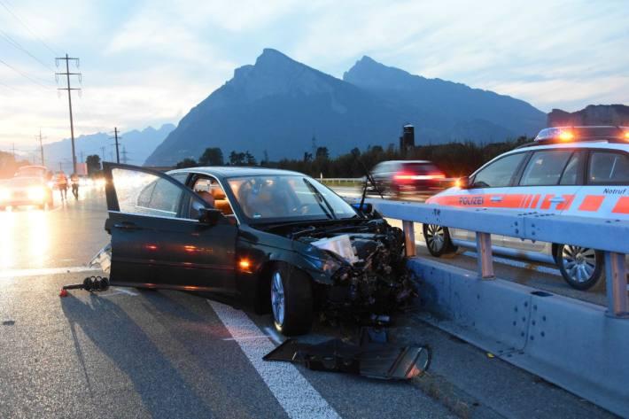 Der Lenker musste beim Unfall in Bad Ragaz SG seinen Führerschein abgeben.
