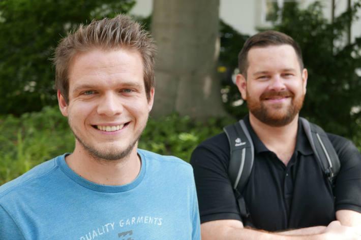 Damian Nydegger (l.) und Bartek A.