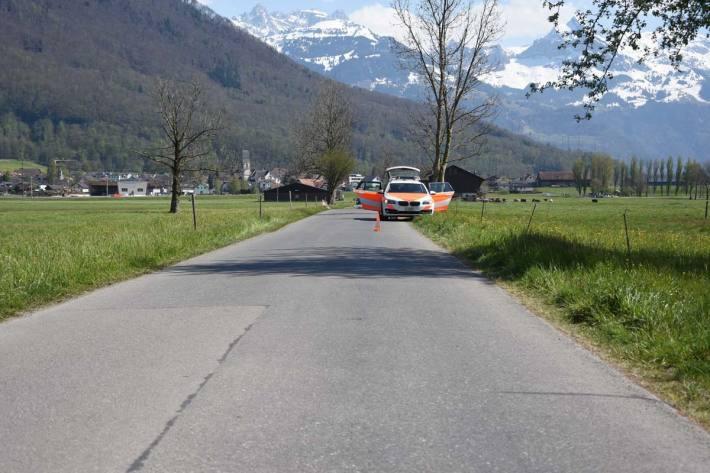 Unfall mit Velo und E-Bikes in Schänis
