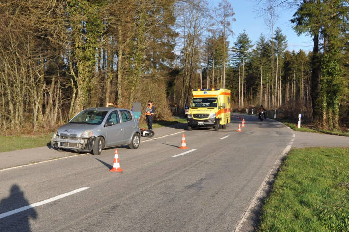 Unfallsituation in Wolfwil