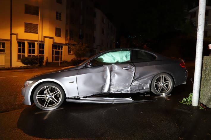 Selbstunfall mit einer verletzten Person in St.Gallen