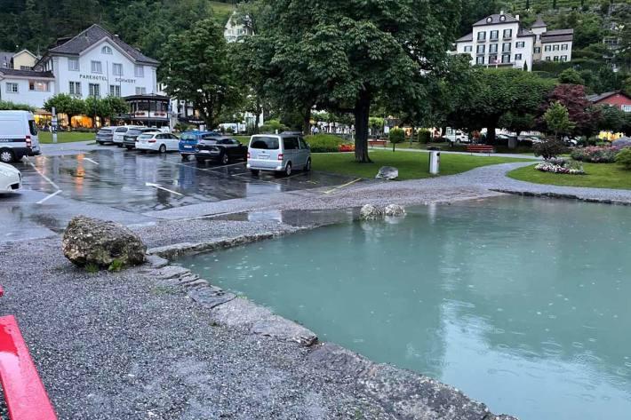 Die Serie der schweren Unwetter in der Schweiz setzt sich weiter fort