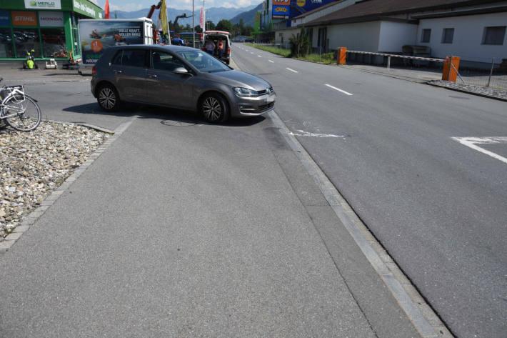 Unfall zwischen Auto und Velo in Mels