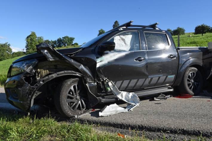 Beim Unfall in Pfaffnau von gestern verletzte sich eine Person.