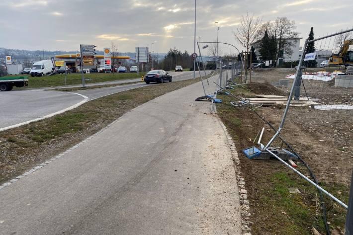 In Bremgarten AG ist heute Nacht ein Unfall passiert.