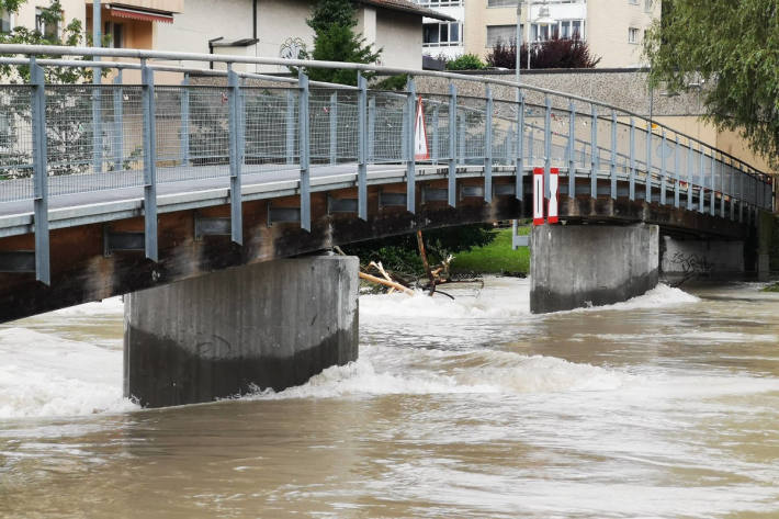 Die Reuss in Mellingen