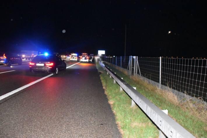 Schwerer Motorradunfall gestern auf der A1 bei Niederbipp SO.