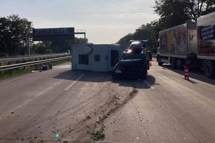 Verkehrsunfall auf der Autobahn 1 im Bereich der Gemeinde Stuhr