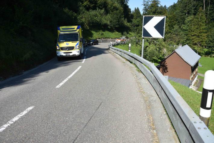 Selbstunfall mit Motorrad in Degersheim