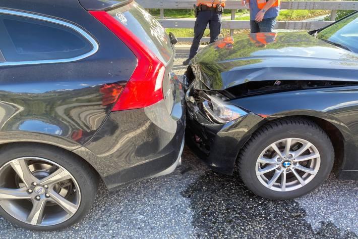 In Filzbach GL kam es gestern zu einer Auffahrkollision auf der Autobahn A3.
