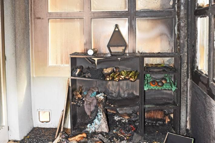 In Guntmadingen SH brannte es heute in einem Haus.