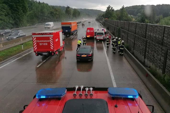 Die Unfallstelle war bis 19.10 Uhr teilweise gesperrt