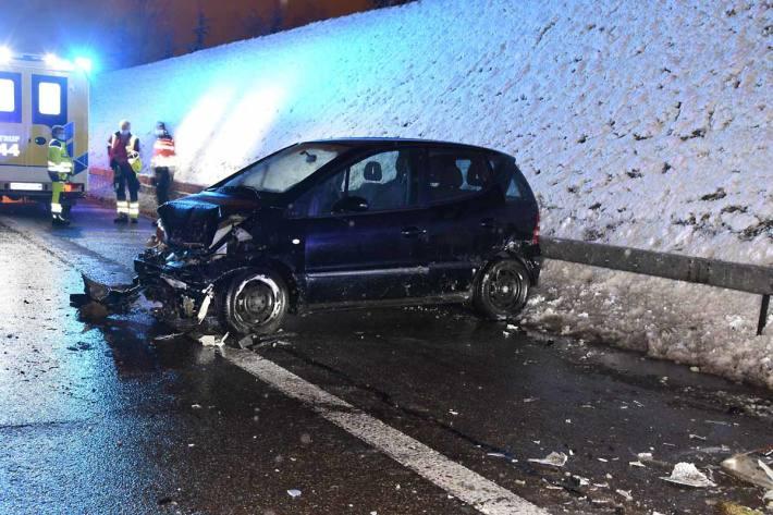 Selbstunfall auf Autobahn in Gossau